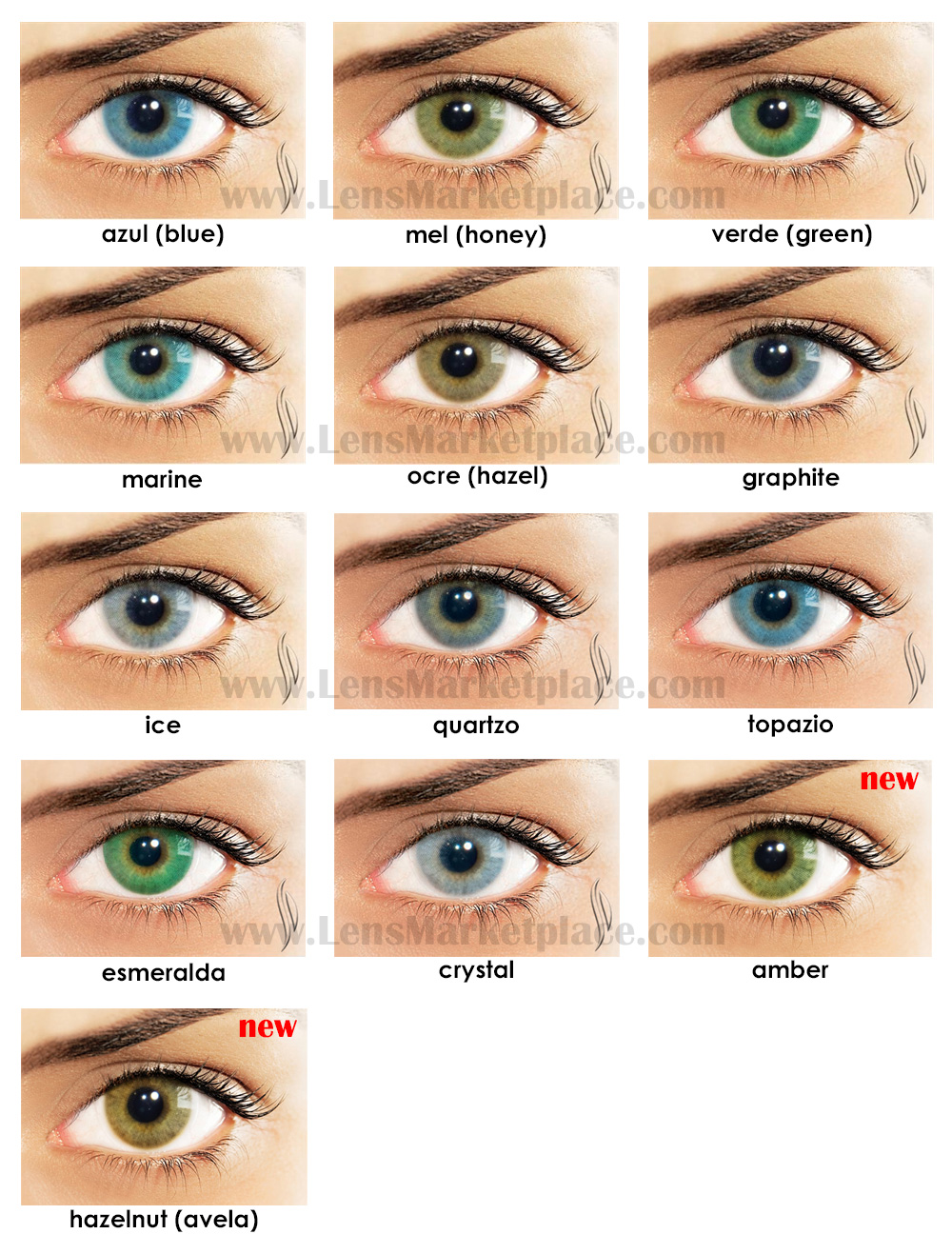 Natural Color Quartzo Contact Lenses