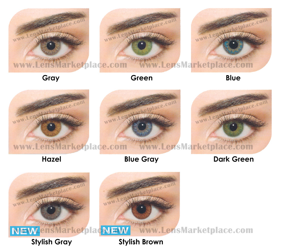 Types Of Contact Lenses Color